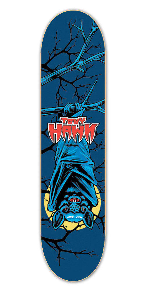 Birdhouse Hawk Bat Skateboard Deck - Blue - 7.75