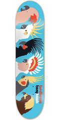 Birdhouse Hawk Birds Skateboard Deck - Blue - 7.75in