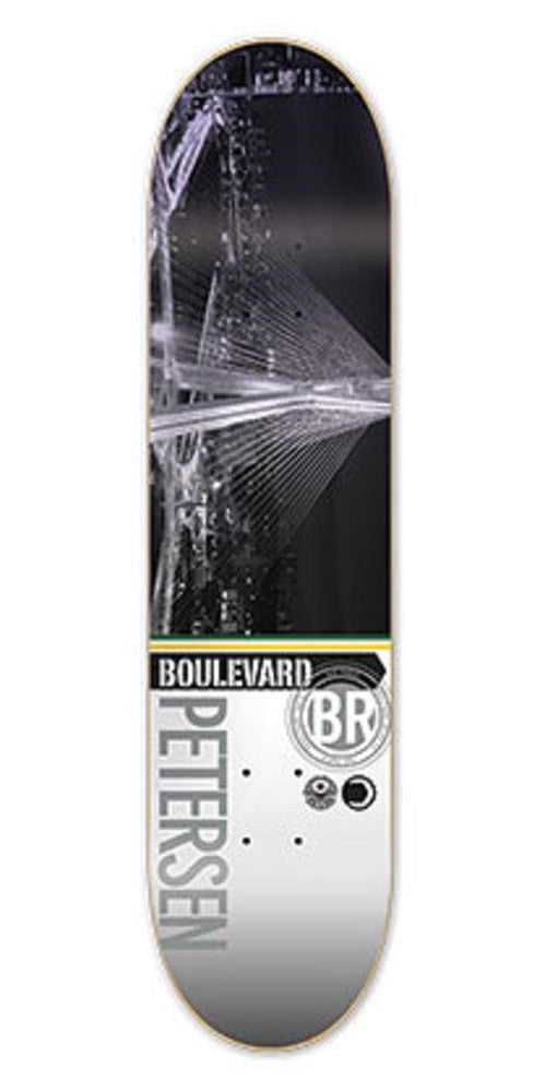 BLVD Petersen Cityscape Skateboard Deck 8.1 - Grey/Multi