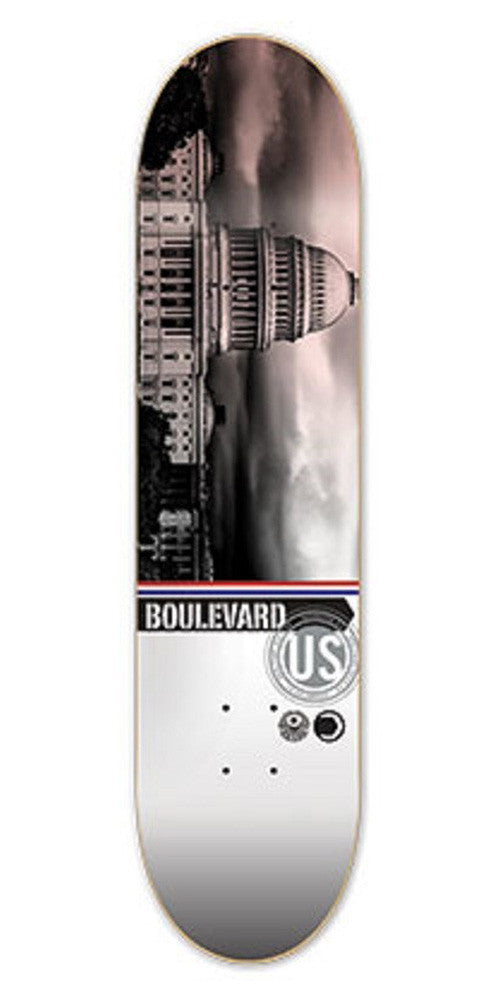 BLVD Team Cityscape Skateboard Deck 8.5 - Grey/Multi