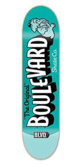 BLVD Team Retro Skateboard Deck 8.5 - Teal/Turquoise