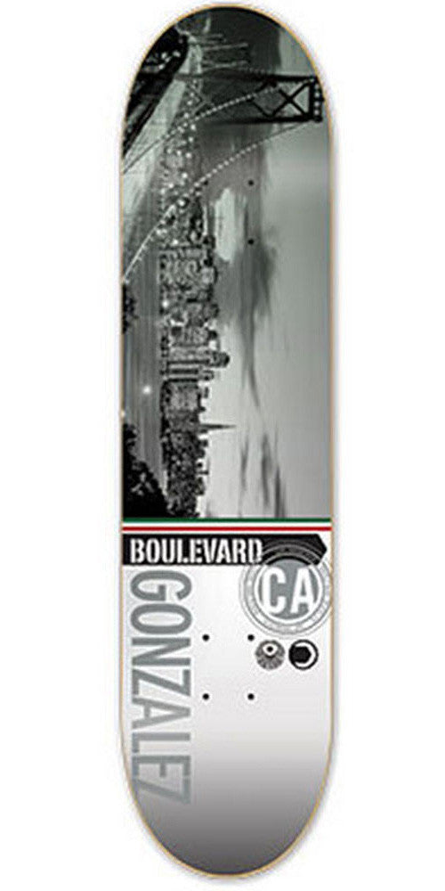 BLVD Gonzalez Cityscape Skateboard Deck - Grey/Multi - 8.0