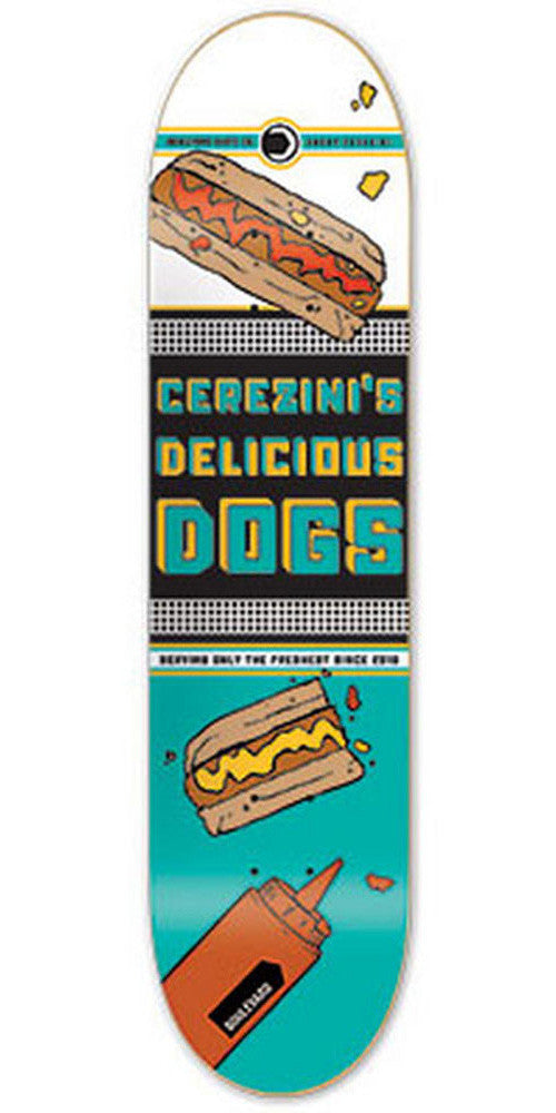 BLVD Cerezini Steady Eats Skateboard Deck - Teal/White - 8.125