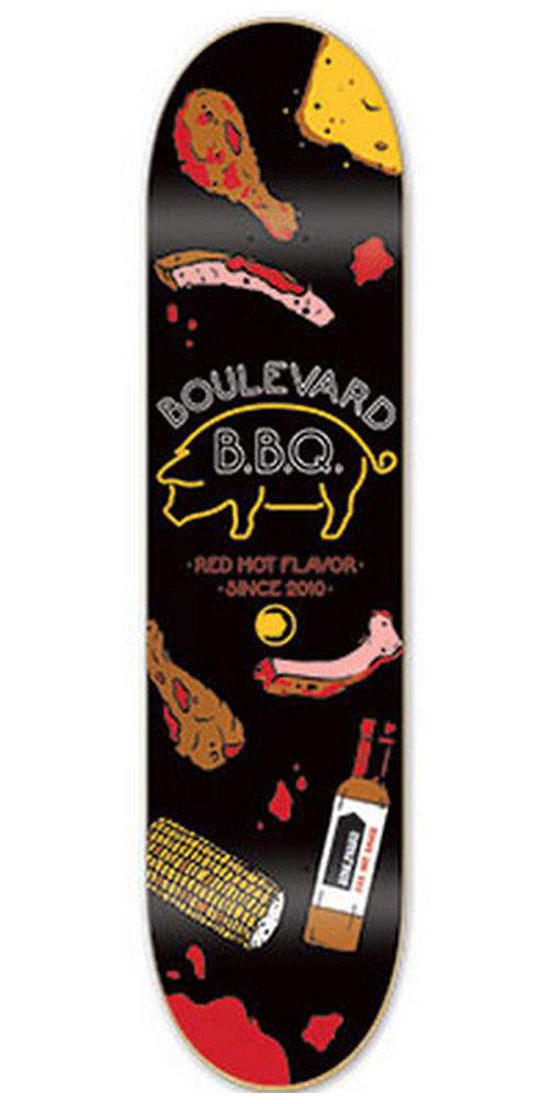 BLVD Team Steady Eats Skateboard Deck - Black - 8.125