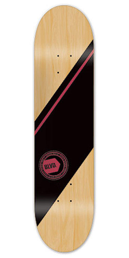 BLVD Team Authentic Skateboard Deck - Red - 8.25
