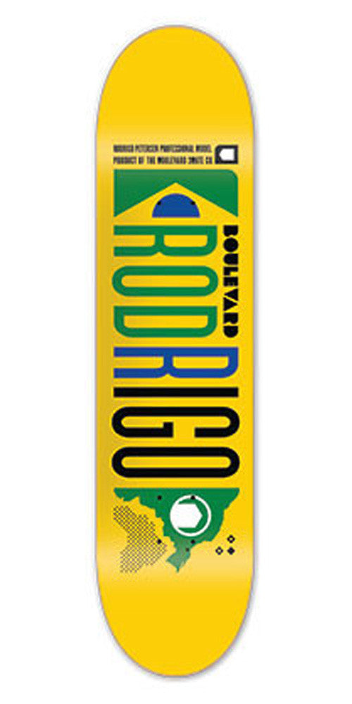BLVD Art Deco Petersen Skateboard Deck - Yellow - 8.2