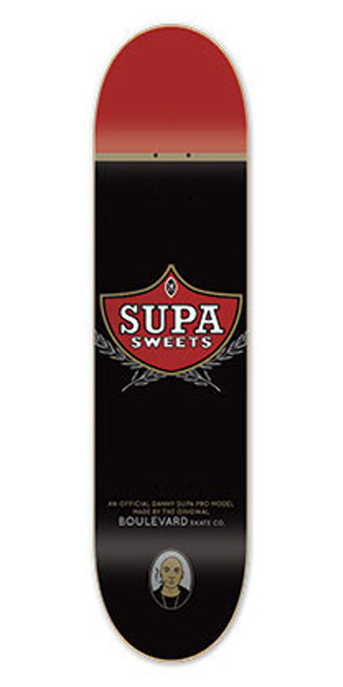 BLVD One Off Supa Skateboard Deck - Black - 8.25