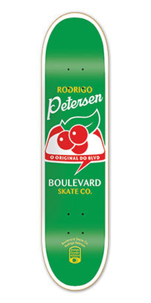 BLVD One Off Petersen Skateboard Deck - Green - 8.12