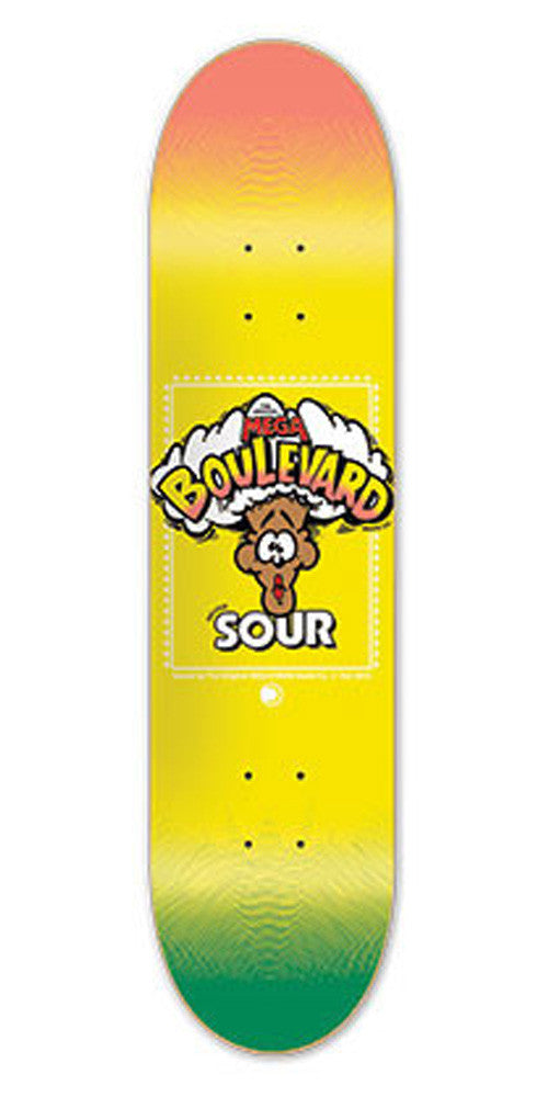 BLVD One Off Team Skateboard Deck - Yellow - 8.0