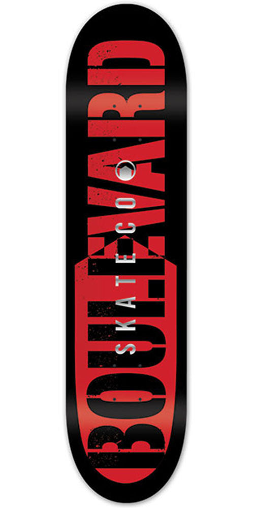 BLVD Bold Foil Skateboard Deck - Red - 8.0in