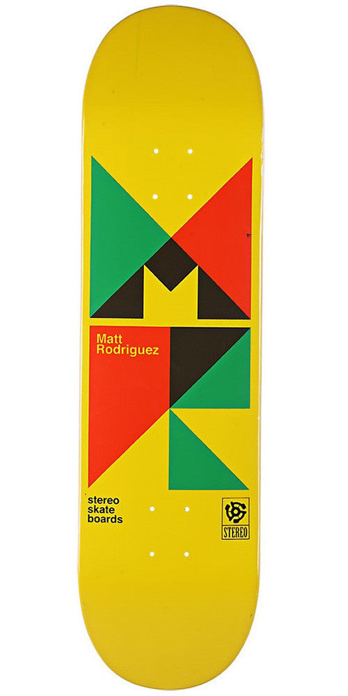 Stereo Rodriguez Swiss Classic Skateboard Deck 8.0 - Yellow