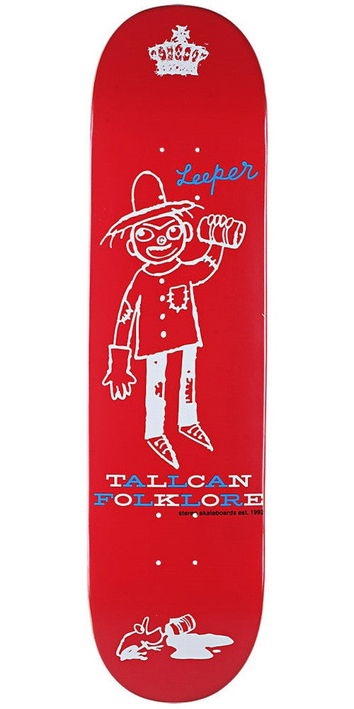 Stereo Tall Can Folklore Skateboard Deck 8.3 - Red