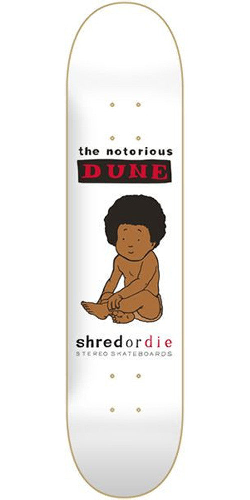 Stereo Notorious Dune Skateboard Deck 7.75 - White