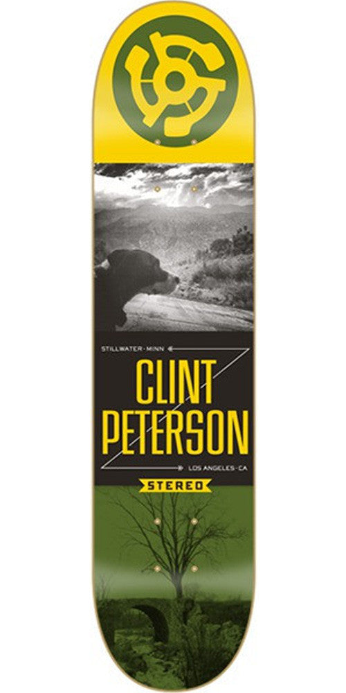 Stereo Peterson Origins Skateboard Deck 8.125 - Green/Yellow