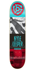 Stereo Origins Leeper Skateboard Deck - Teal/Red - 8.0