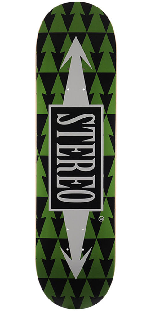 Stereo Arrow Pattern Skateboard Deck - Green - 8.5in