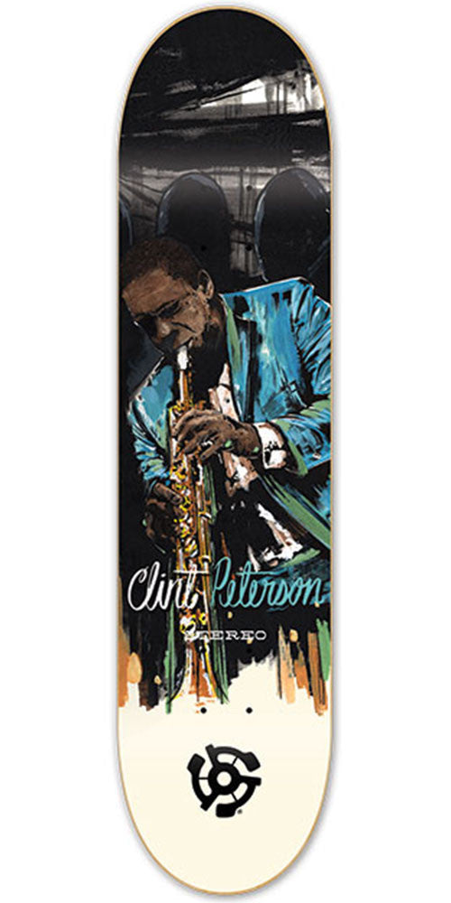 Stereo Clint Peterson Jazz Skateboard Deck - Multi - 7.75in