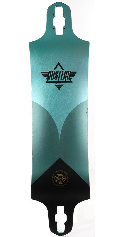 Dusters Aqua Skateboard Deck w/ Printed Grip Tape - Turquoise - 9.75in x 38in