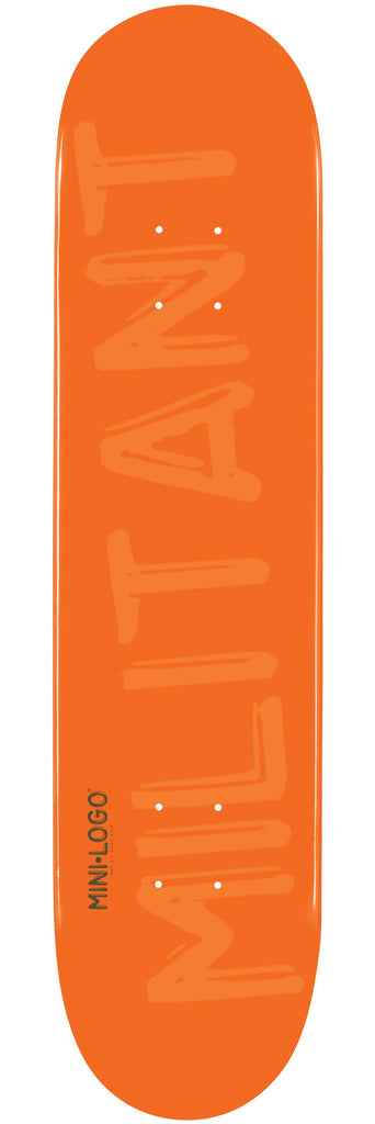 Mini Logo Skateboard Deck 7.5 - Orange Militant