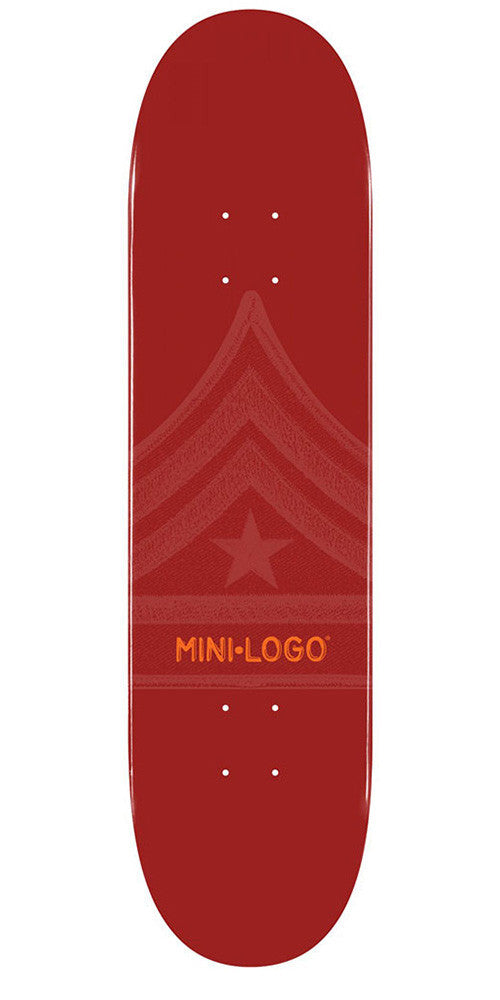 Mini Logo Skateboard Deck - 7.5 - Maroon Quartermaster