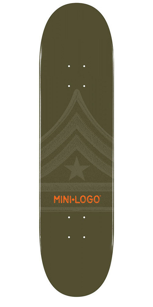 Mini Logo Skateboard Deck - 8.0 - Green Quartermaster