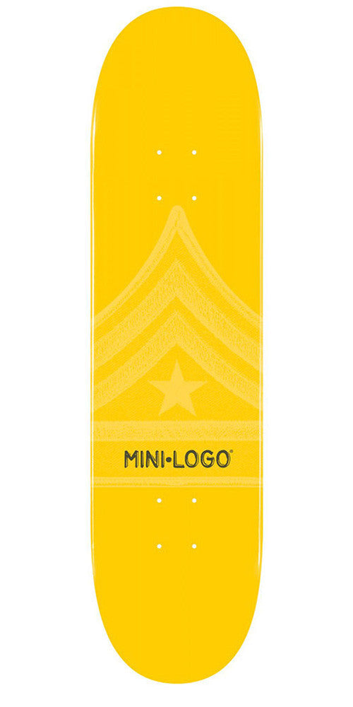 Mini Logo Skateboard Deck - 8.0 - Yellow Quartermaster