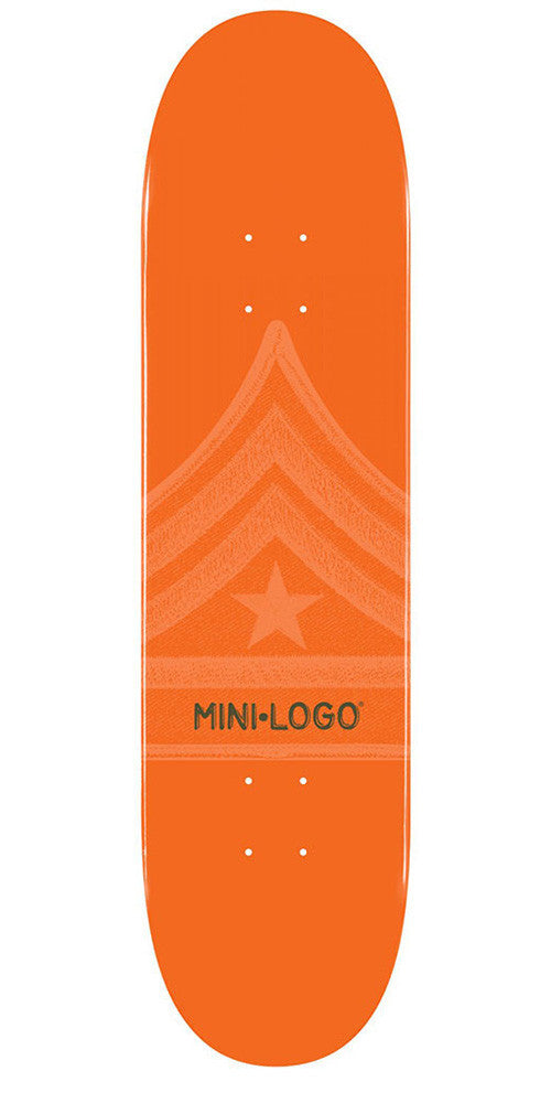 Mini Logo Skateboard Deck - Orange Quartermaster - 8.25
