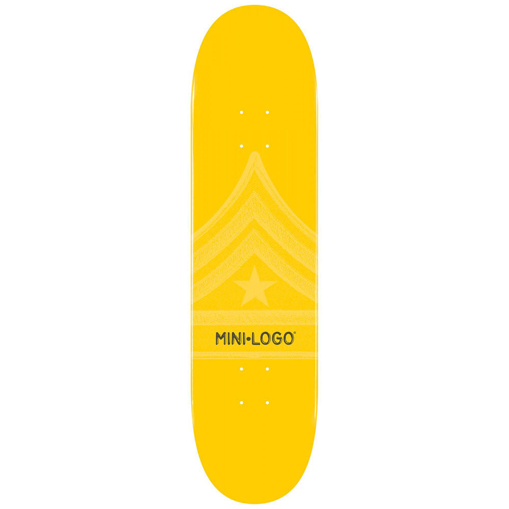 Mini Logo Skateboard Deck - Yellow Quartermaster - 8.25