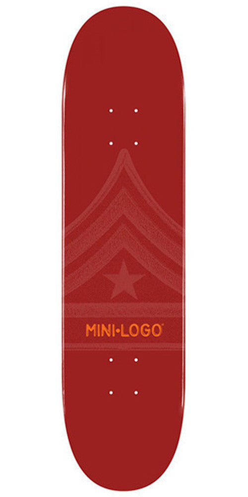 Mini Logo Skateboard Deck 7.88 - Maroon Quartermaster
