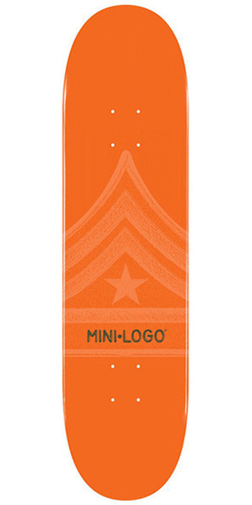 Mini Logo Skateboard Deck 7.88 - Orange Quartermaster