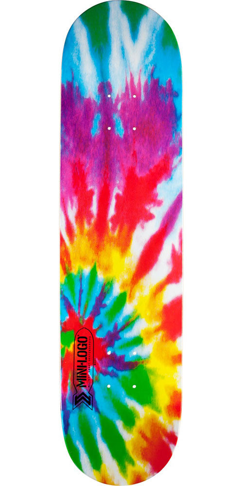 Mini Logo Small Bomb Skateboard Deck - Tie-Dye - 8.5in x 33.5in