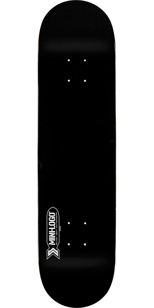 Mini Logo Small Bomb Skateboard Deck - Black - 8.5in x 33.5in