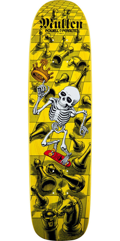 Powell Peralta Bones Brigade Chess Reissue Rodney Mullen Skateboard Deck 7.4 x 27.625 - Yellow