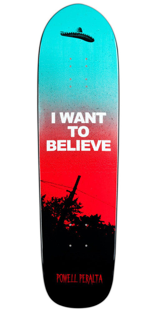 Powell Peralta Funshape Believe Skateboard Deck 8.4 - Red/Blue