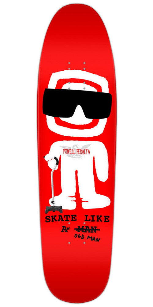 Powell Peralta Funshape Slaom Skateboard Deck 8.4 - Red