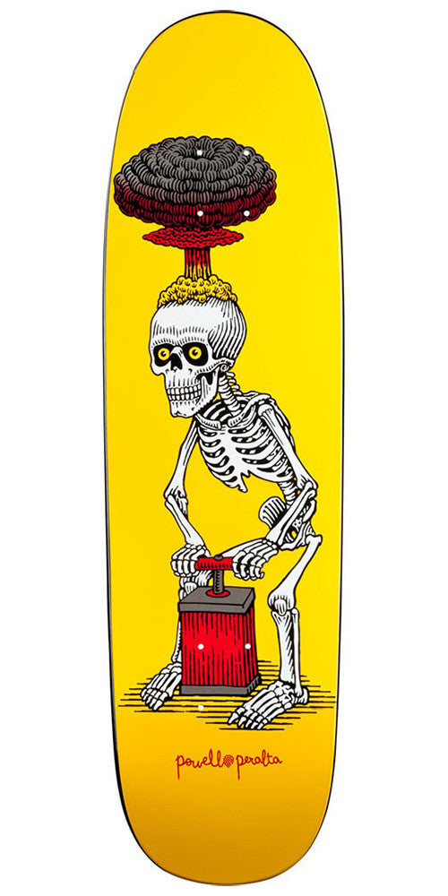 Powell Peralta Slappy Explode Skateboard Deck - Yellow/Red - 8.5in x 30.5in