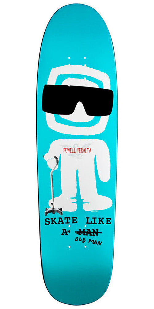 Powell Peralta Funshape SLAOM 2 Skateboard Deck - Blue - 8.4in x 31.5in