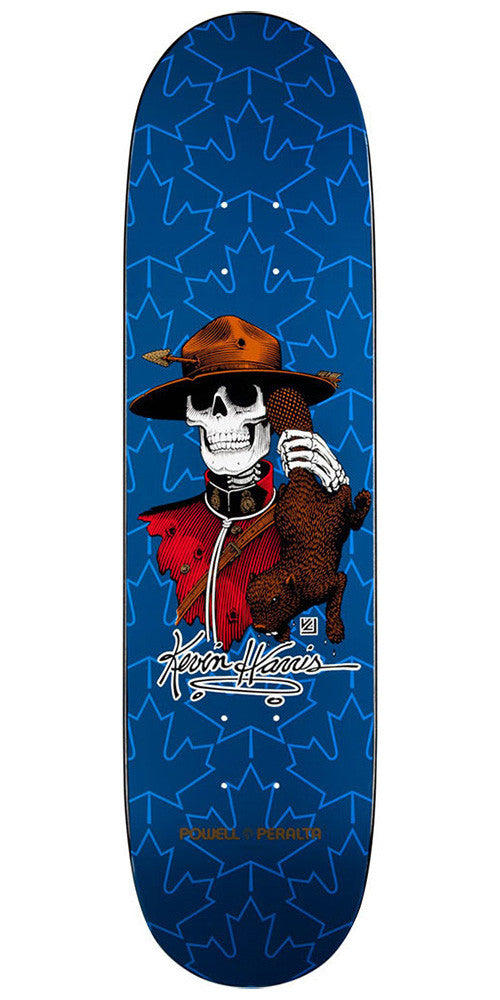 Powell Peralta Kevin Harris Mountie Skateboard Deck - Navy - 8.0in x 31.25in
