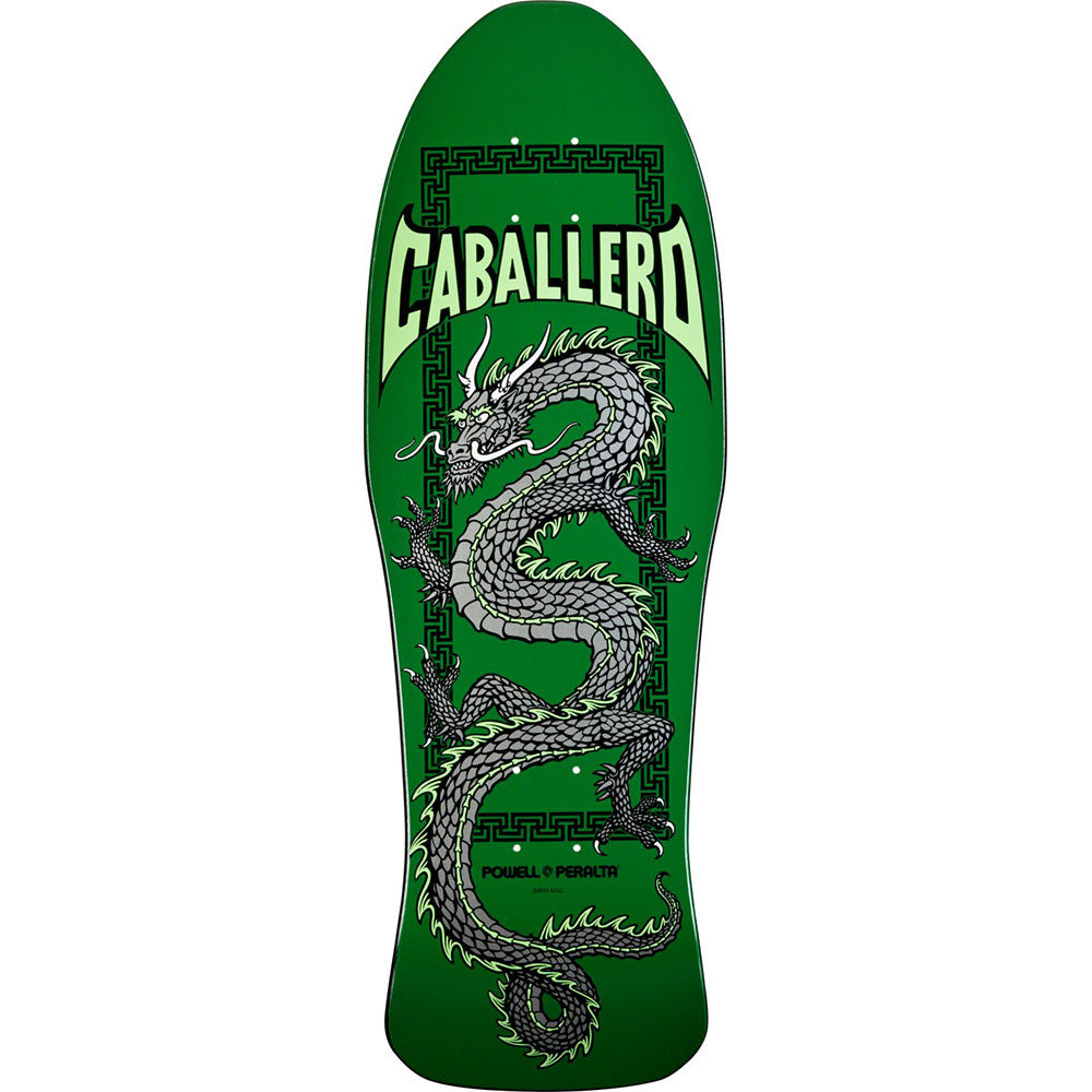 Powell Peralta Steve Caballero Chinese Dragon Skateboard Deck - Green - 10.0in x 30.0in
