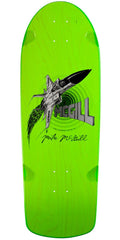 Powell Peralta Bones Brigade Mike McGill Jet Fighter Reissue Skateboard Deck - Green - 10.28in x 30.25in