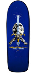 Powell Peralta Ray Bones Skull And Sword Skateboard Deck - Blue - 10.0in x 30.0in