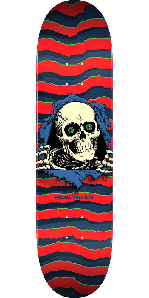 Powell Peralta Ripper Skateboard Deck - Red - 8.25in x 31.95in