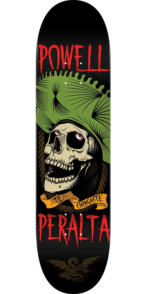 Powell Peralta Te Chingaste Skateboard Deck - Black/Green - 8.25in x 31.95in