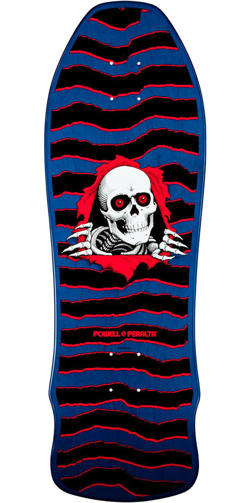 80a53a95a8044 Powell Peralta Geegah Ripper Skateboard Deck - Blue - 9.75in x 30in.  Enlarge Image