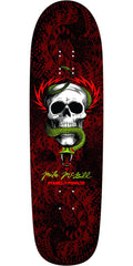 Powell Peralta Ray McGill Snake Skin Fun Shape 2 Skateboard Deck  - Black/Red - 8.97in x 32.38in