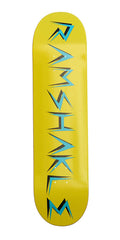 Ramshakle Logo Skateboard Deck - Yellow/Blue - 8.125