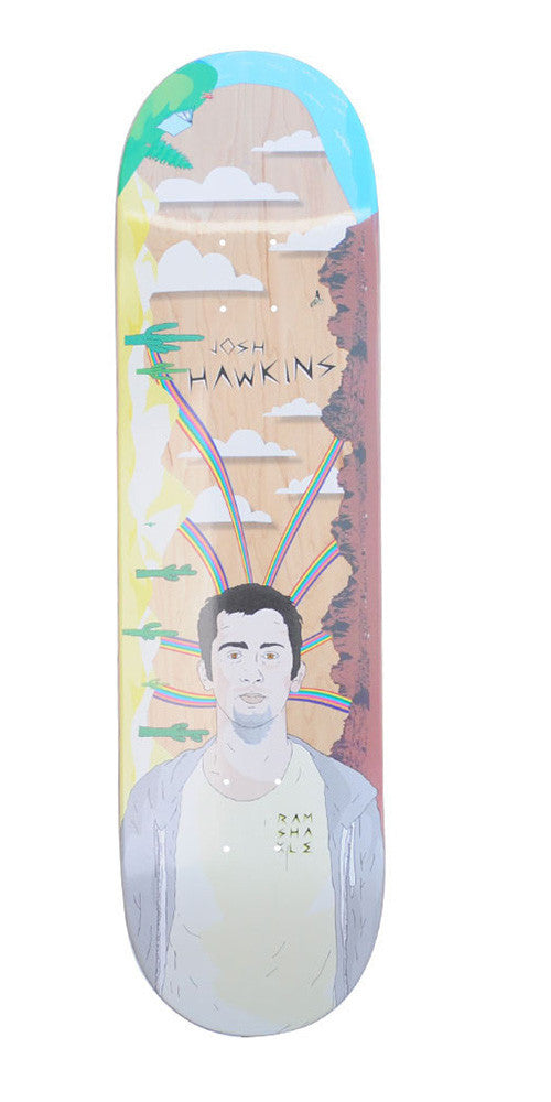 Ramshakle Hawkins Rainbow Skateboard Deck - Multi - 8.375