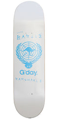 Ramshakle G'Day Bartie Skateboard Deck - White - 8.375