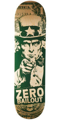 Zero Bailout HYB Skateboard Deck - Green/Natural - 8.25in