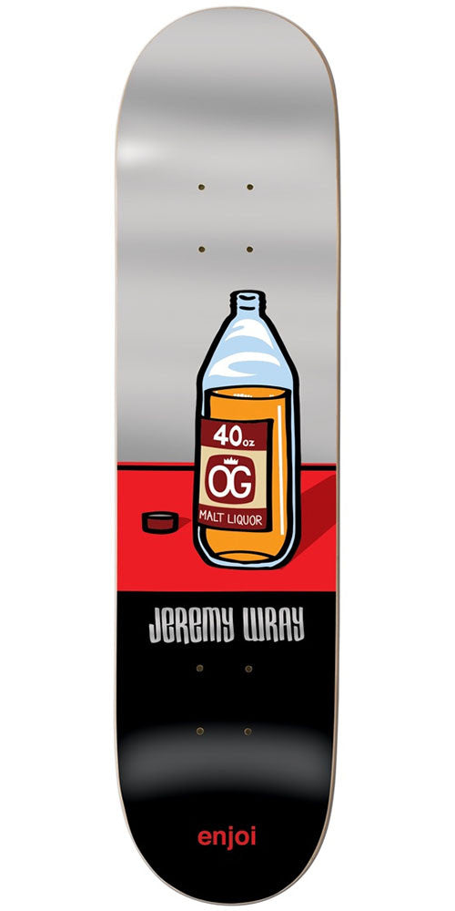 Enjoi Jeremy Wray Wray R7 Skateboard Deck - Silver/Black - 7.875in